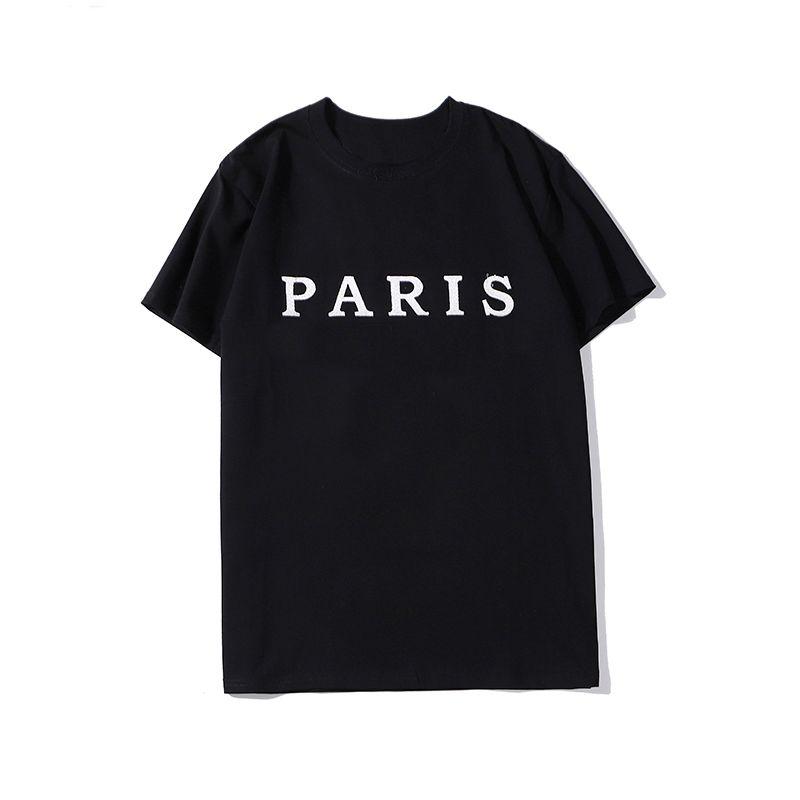 Hommes Styliste T-shirt manches courtes d'été décontractée Lettre Mode broderie de haute qualité Hommes Femmes Hip Hop T-shirts