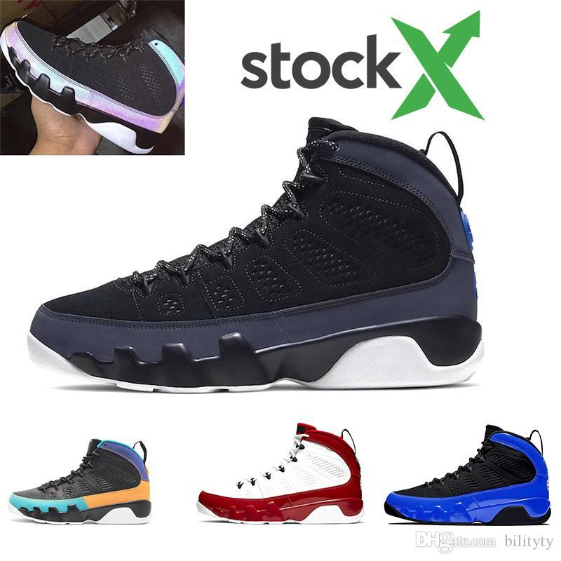 Stock X 2020 Zapatos de baloncesto de Nueva antracita 9 Corredor Azul Gimnasio Sueño Rojo Se Space Jam hombres 9s las zapatillas de deporte