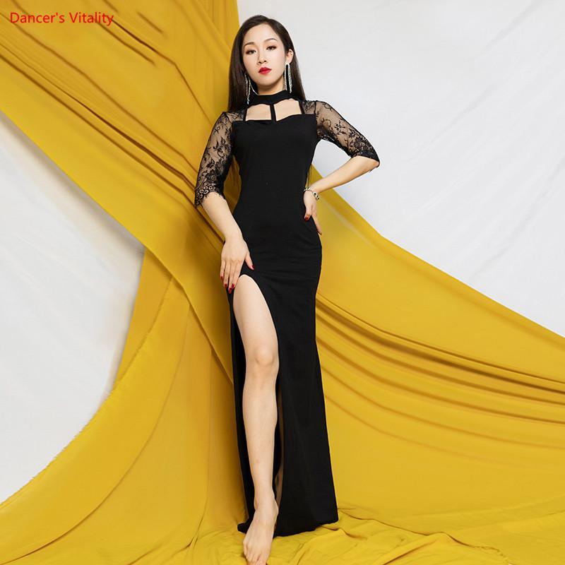 새로운 여자 아랫배 춤 연습은 면 복장 성인 동양 춤 단계 성과 훈련 한 벌을 입습니다