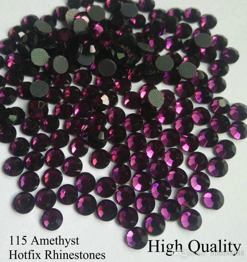 Dark Amethyst DMC Hotfix Rhinestone SS6 SS10 SS16 SS20 SS30 Glass Crystals Stones Hot Fix Iron-On FlatBack With Glue