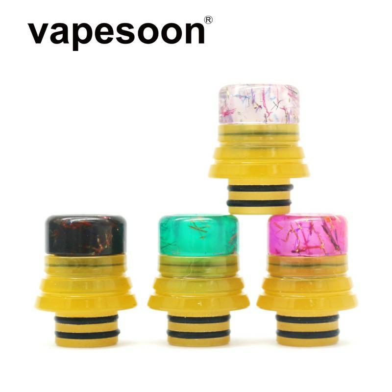 VapeSoon más nuevo 510 Resina Drip Tip extraíble Estilo Drip Tip envío de DHL