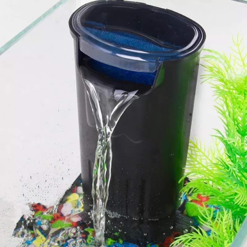 5W Aquarium interne Filtre Filtre cascade Cylindre Reptile Tortue Reptile réservoir en-Puisard bas niveau Filtre à eau w / Médias Pad