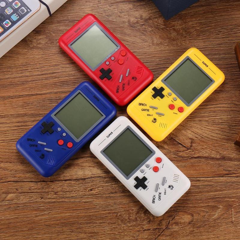Alloyseed Retro Classic Çocukluk Tetris Avuç İçi Oyun Oyuncular 3.5 inç LCD Elektronik Oyunlar Oyuncak Oyun Konsolu Dahili 26 Games