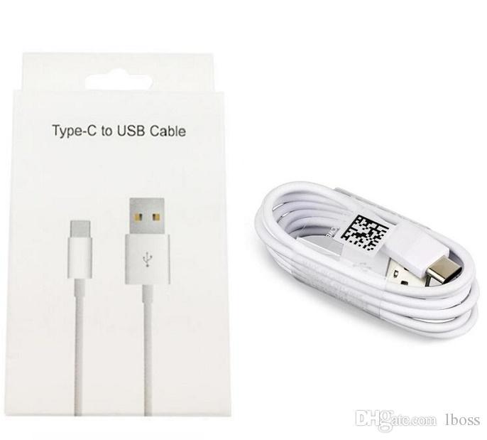 빠른 고속 충전기 코드를 충전 삼성 S6 S7 S8 S10 LG 화웨이에 대한 상자를 포장 NEW 원래 OEM 유형 C의 USB 케이블로 소매 패키지