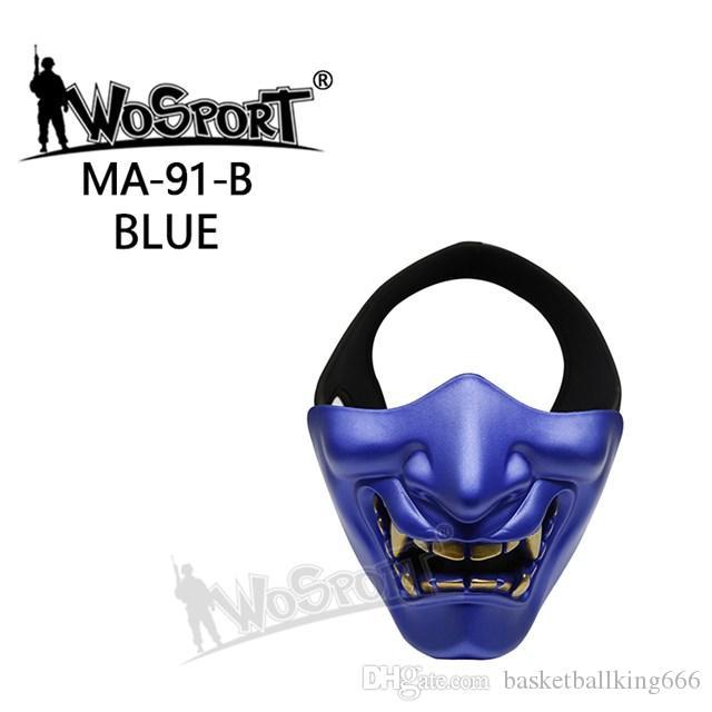 Wosport PRAJNA Maske Tactical Halloween Party Devil Half Gesichtsmaske TPU Stoff 16 * 13 (cm) 8 Farben