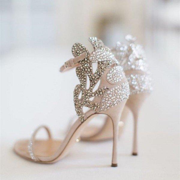 2019 neue Art und Weise super hohe Peep Toe Strass Blume Fersen Customized Frauen Bürodame Partei Hochzeitssandelholze Schuhe freies Verschiffen