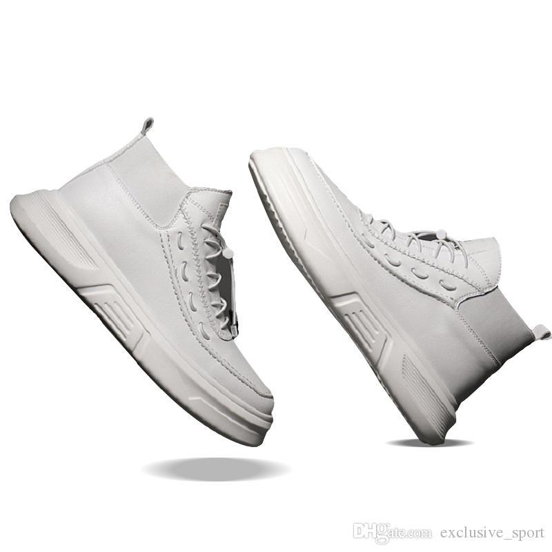 zapatos de los hombres de la marea salvaje originales en forma de bota zapatos para hombre formadores ins tablero de marea tendencia triples deportes zapatillas de deporte blancas negras del envío 40-44 gota