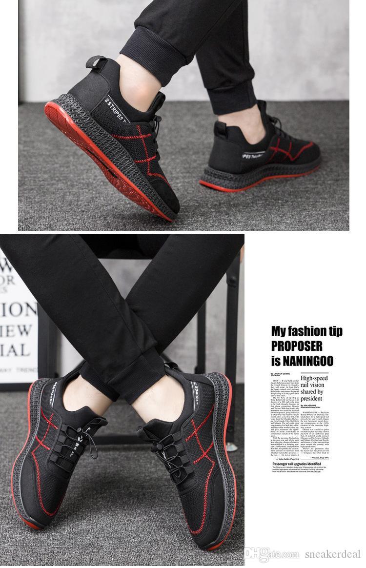 Neue Männer beiläufige gewebte Turnschuhe atmungs Trend wilden Trend Licht rutschfeste Schuhe tragen mit Box läuft