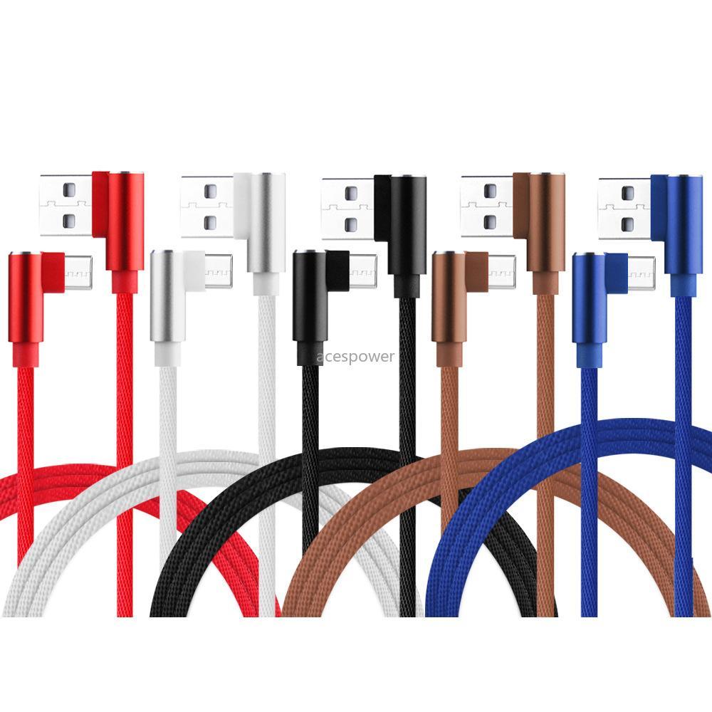 90 grados USB cable cargador Cable Cable de Datos Origen 1 m de longitud 2 m 3 m 3 pies de carga rápida para Samsung Galaxy Note S20 Ultra Plus 10