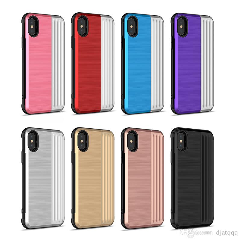 2em1 pc + tpu luxo case para iphone xs max xr x 6 s 6 s 7 8 plus titular suporte de telefone celular tampa traseira