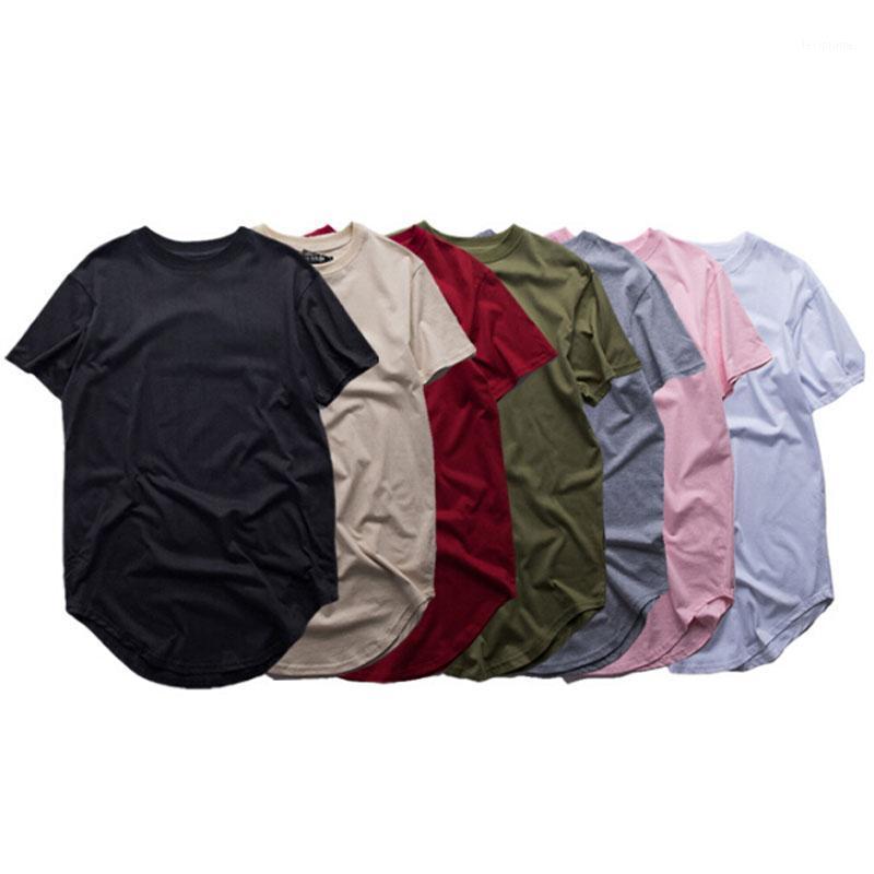 Men's T-Shirts Fashion Men Extended T Shirt Longline Hip Hop Tee Shirts Women Swag Clothes Harajuku Rock Tshirt Homme 1