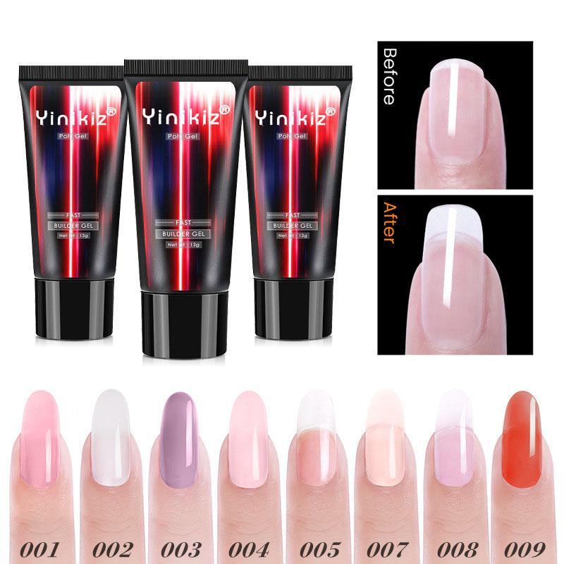 Yinikiz UV Extension клей гель-крем быстрого выдвижение Кристалл Клей Lasting безболезненной фототерапия Клей Nail Art Маникюр Поли гель 070305