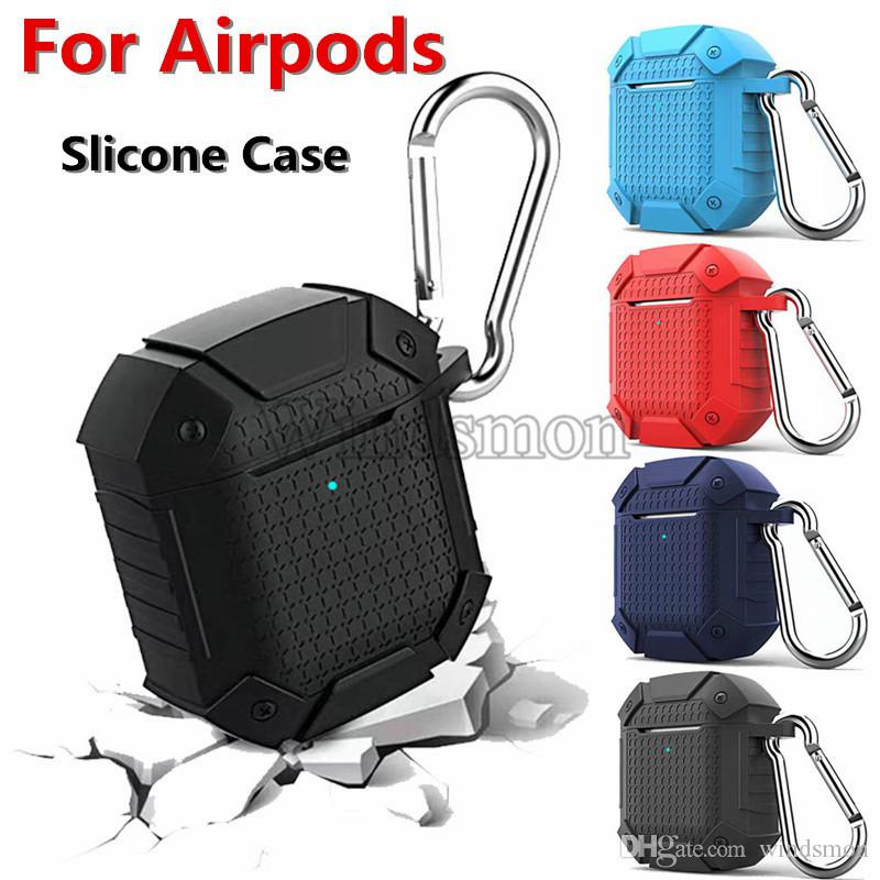 Heavy Duty Armor Earphone Case For Airpods Shockproof Full Protection Bluetooth Wireless Earphone Case For Airpods 1/ 2 Shell Cover