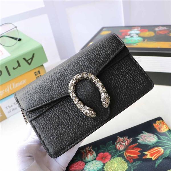 El nuevo cuero de la marca Mini bandolera bolsa de mensajero bolsa de tigre botón de la cabeza cristalina de la decoración del bolso del diseñador del bolso de la cartera