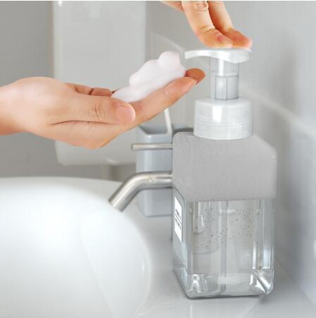 250/450 / 650 ml dispensador de jabón de la espuma de la bomba que hace espuma botella vacía plástica del viaje Plaza de la botella clara Ducha gel líquido bomba de espuma