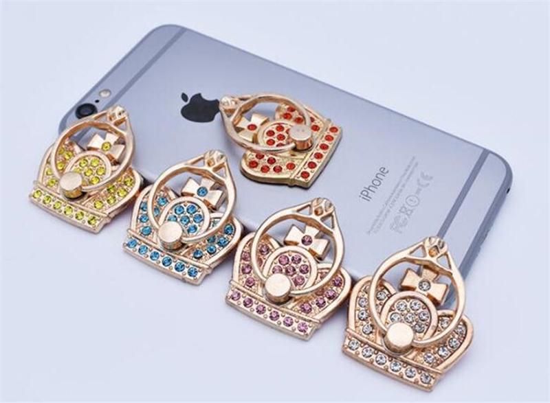 360 Diamonds laurea supporto del metallo del telefono mobile Base anulare Imperial Crown anello di barretta di telefono cellulare supporto della presa Stand con il pacchetto del opp