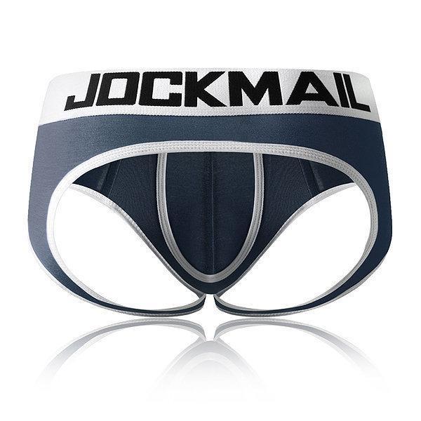 JOCKMAIL Açık Backless kasık G-dizeleri Seksi Erkek İç Giyim penis Tangalar T200517 Kayma bikini tanga Gey İç erkekler erkek slip kese