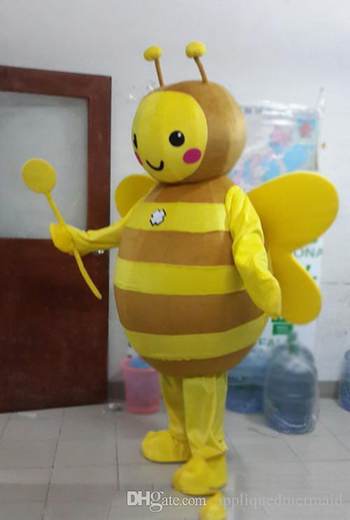 2019 Fabbrica diretta vendita bee mascotte costume cute cartoon fabbrica di abbigliamento personalizzato personalizzato puntelli personalizzati bambole a piedi abbigliamento bambola
