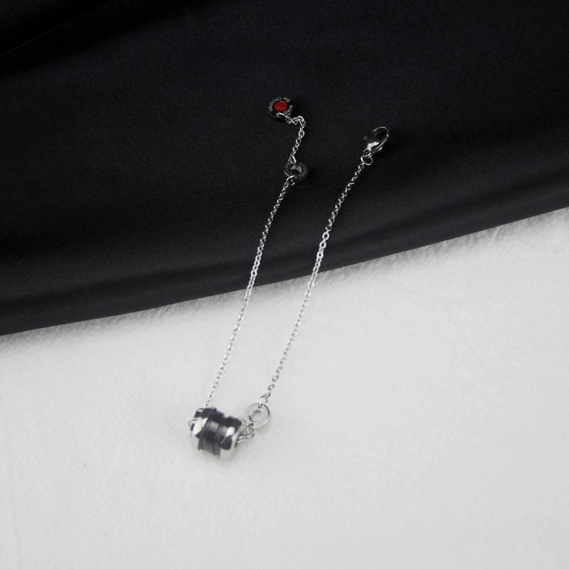 Black Ceramics Bracelet Women 925 Silver Bracelets for Women`s Charms Sterling Silver Jewelry