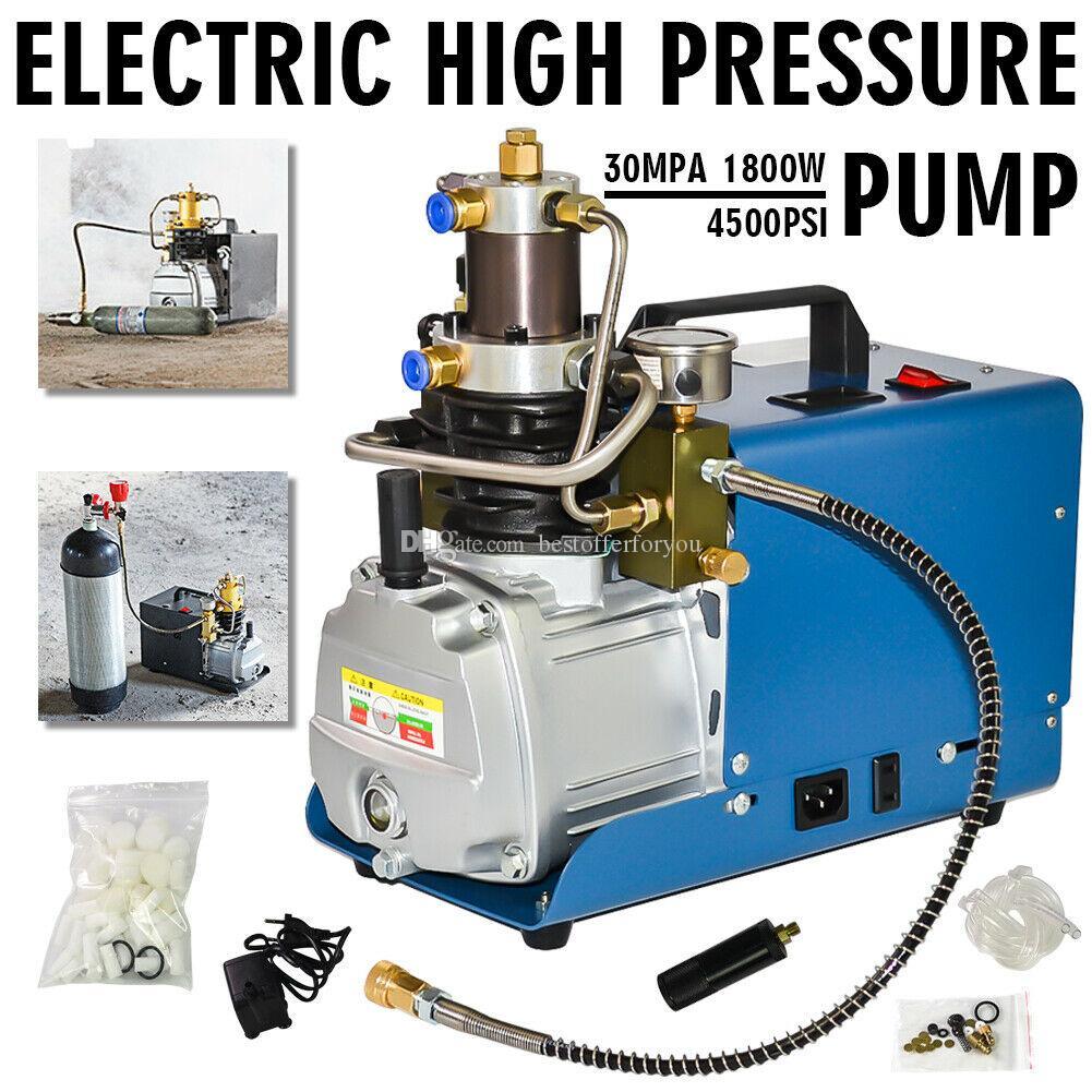 أفضل 110 فولت 220 فولت 30 ميجا با pcp الكهربائية عالية الضغط نظام ضاغط الهواء مضخة 300bar 4500psi مضخة ضاغط الهواء