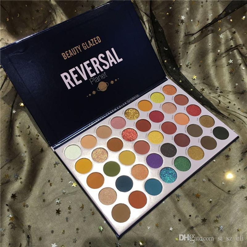 BEAUTY GLAZED Reversal Planet Eye Shadow Palette Makeup Kit 40 Colors Matte Glitter Eyeshadow Palette Waterproof Pigmented Cosmetic
