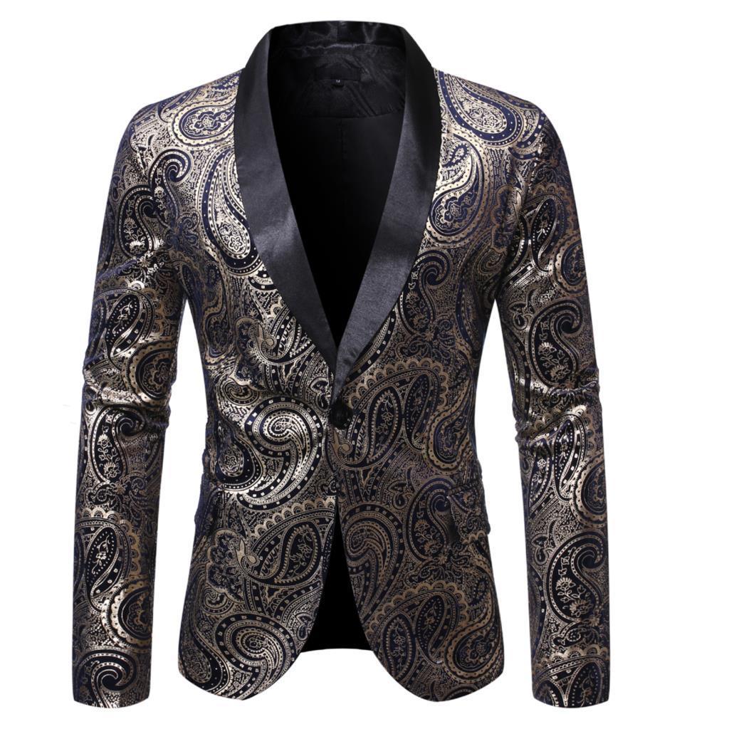 Kostüm Homme Bühne Kleidung Fshion dünne Jacken Business Casual-Partei-Hochzeit Blazer Herren-Blazer-Jacken-Mann-Klage Männer