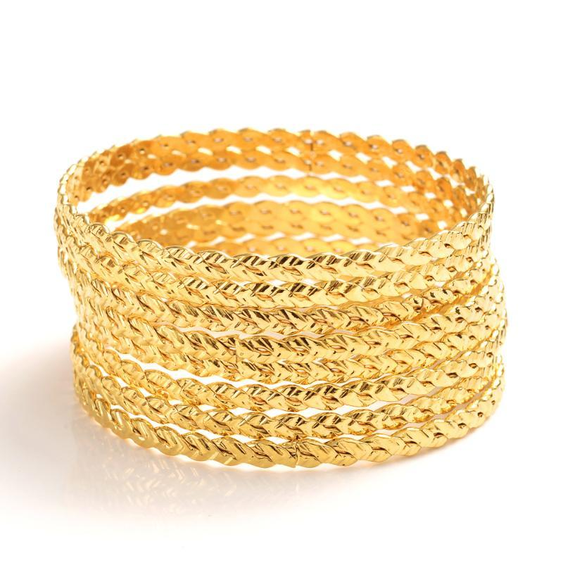 71mm Gold Dubai Индия Эфиопская браслет для женщин мужчин браслет партии ювелирных African Arab аксессуары свадьбы партии подарков