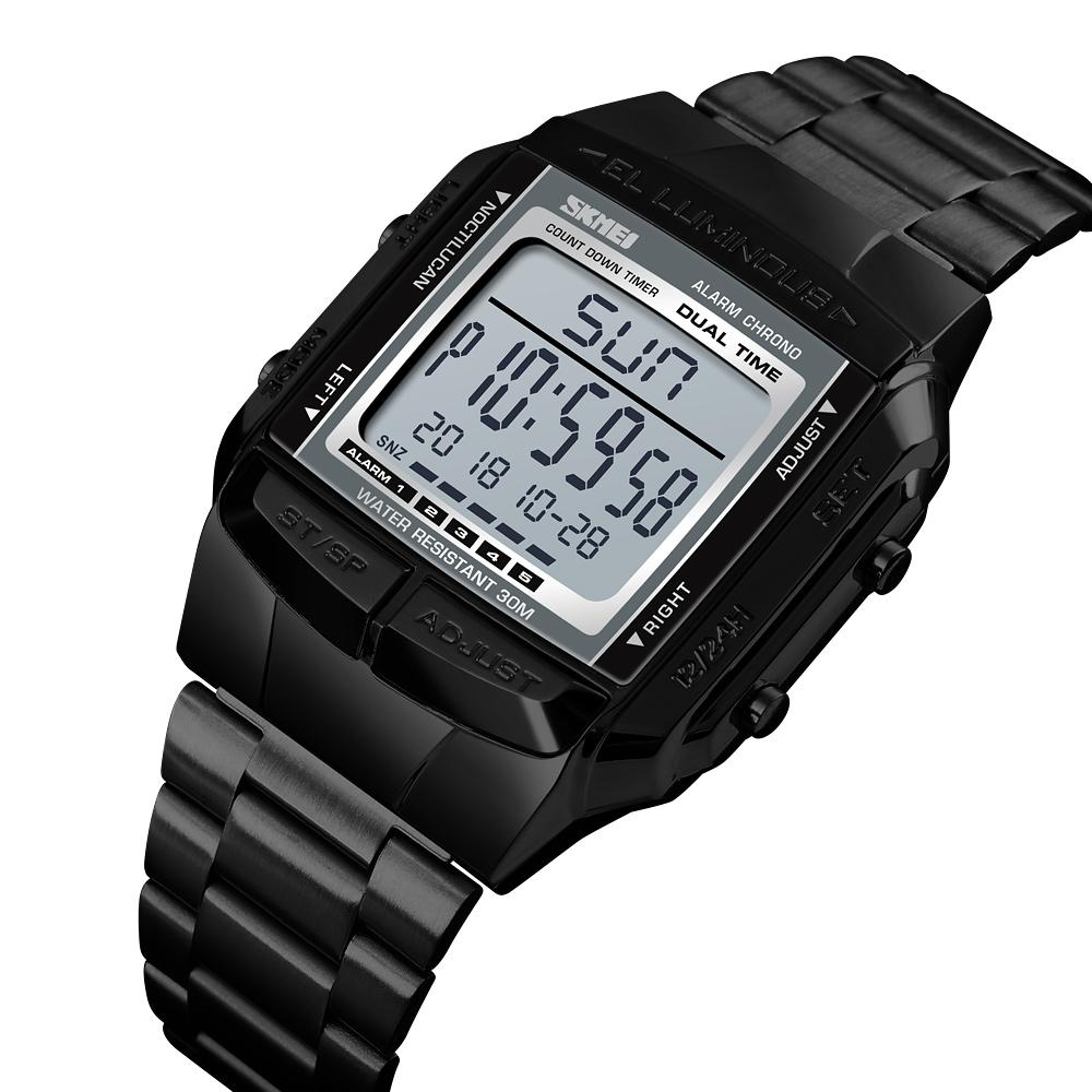 Mens Relógios Top Marca de luxo SKMEI LED relógio digital militares relógios desportivos Waterproof Eletrônico Relógio Relógio Masculino