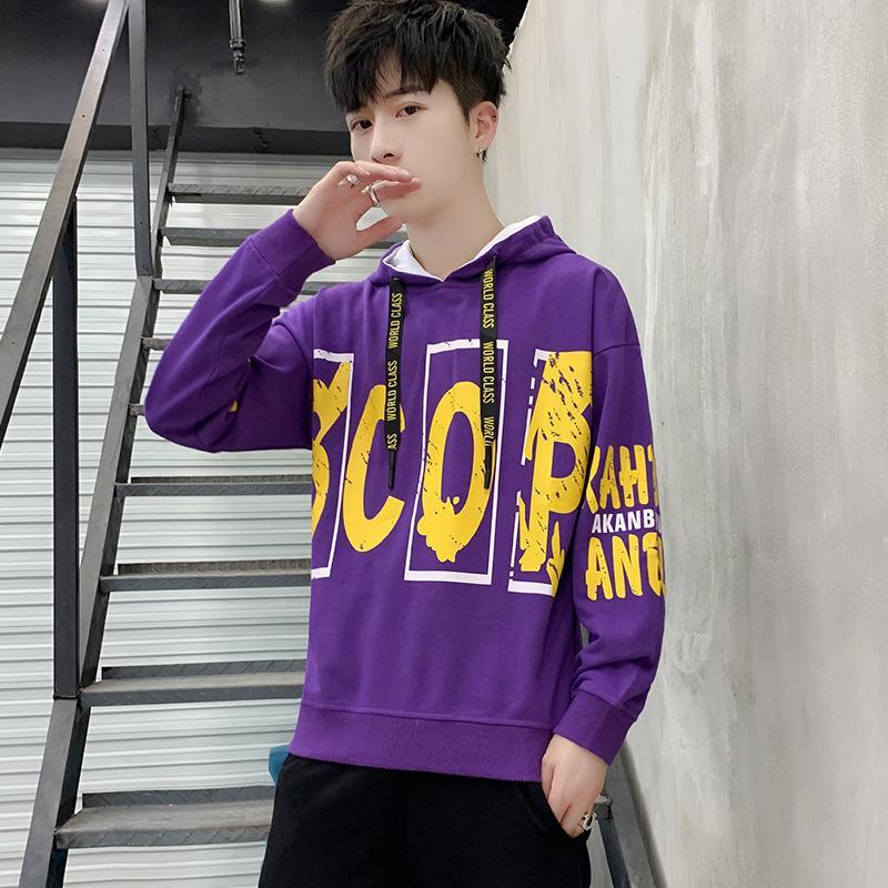 2019 neue koreanische Version der Tendenz der Männer Casual Pullover Gezeiten Marke Männer Kleidung Herbst Frühling und Herbst lose mit Kapuze Jacke