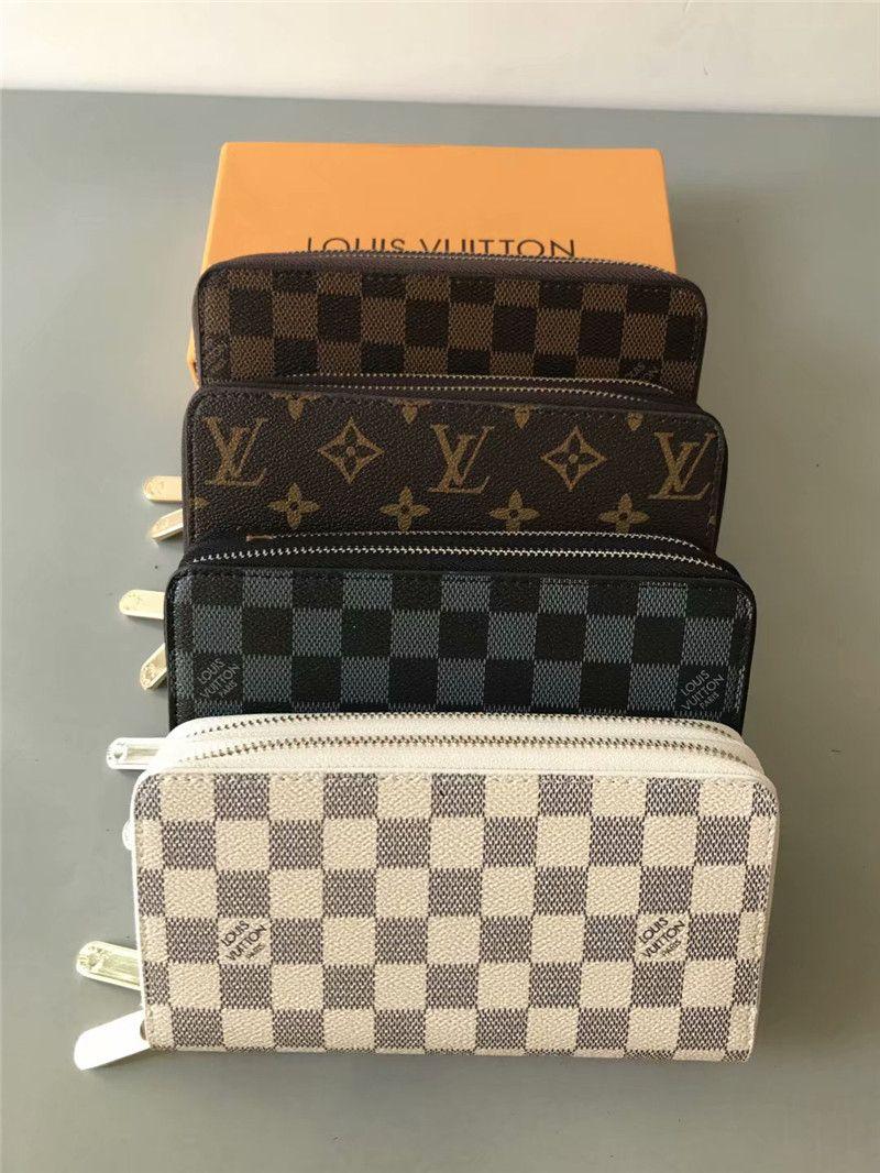 çift Zippy Wallet DİK erkekler kadınlar uzun modacı cüzdan sahipleri iş deri çanta kartı sahibi 162