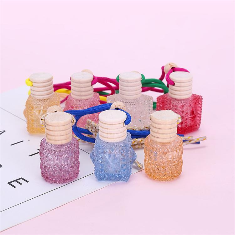 Araba koku difüzör parfüm şişeleri boş şişeleri araba renk aromaterapi şişeleri araba parfüm kolye T3I5788