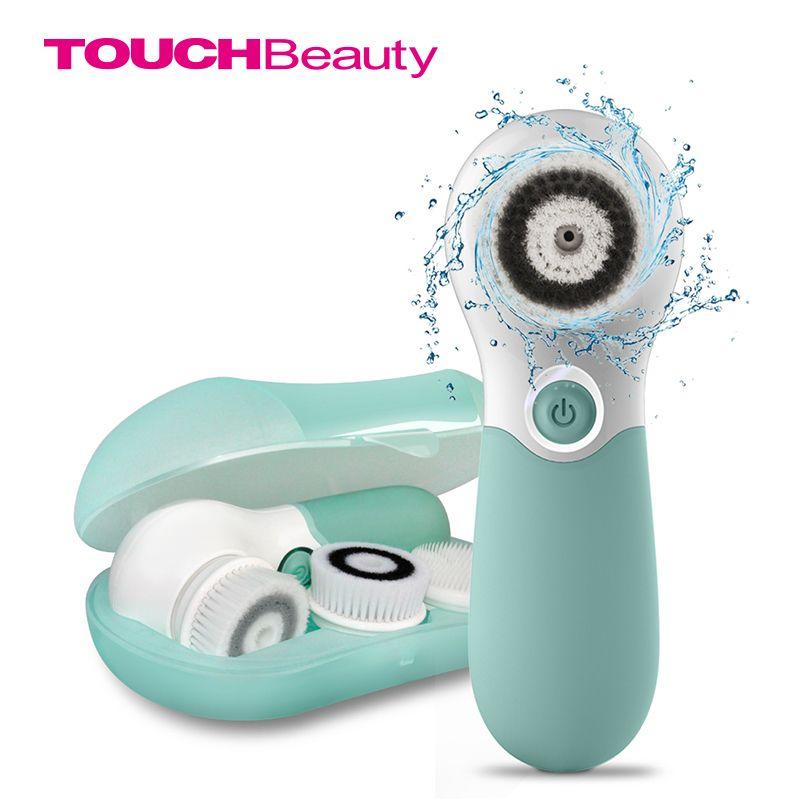 Touchbeauty Wasserdicht Gesichtsbürste Tiefenreinigung Set mit 3 verschiedenen Spin Bürstenkopf, zwei Geschwindigkeitsgesichtsreinigungsvorrichtung TB-14838
