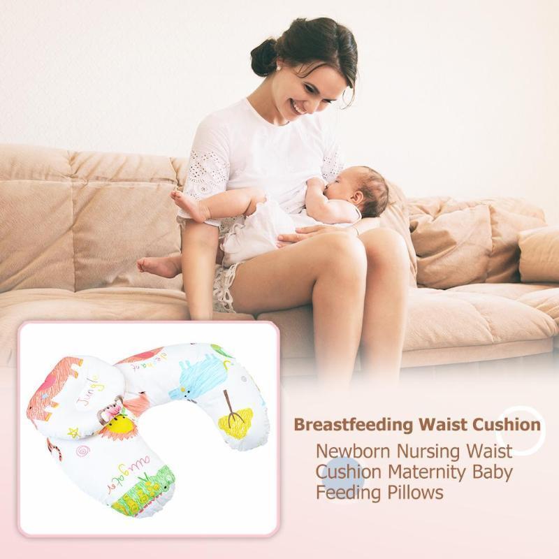 Детские Уход Подушки для беременных Детские Грудное вскармливание Подушка для младенцев Cuddle U-образный Newbron Хлопок Кормление талии Подушка для медсестер