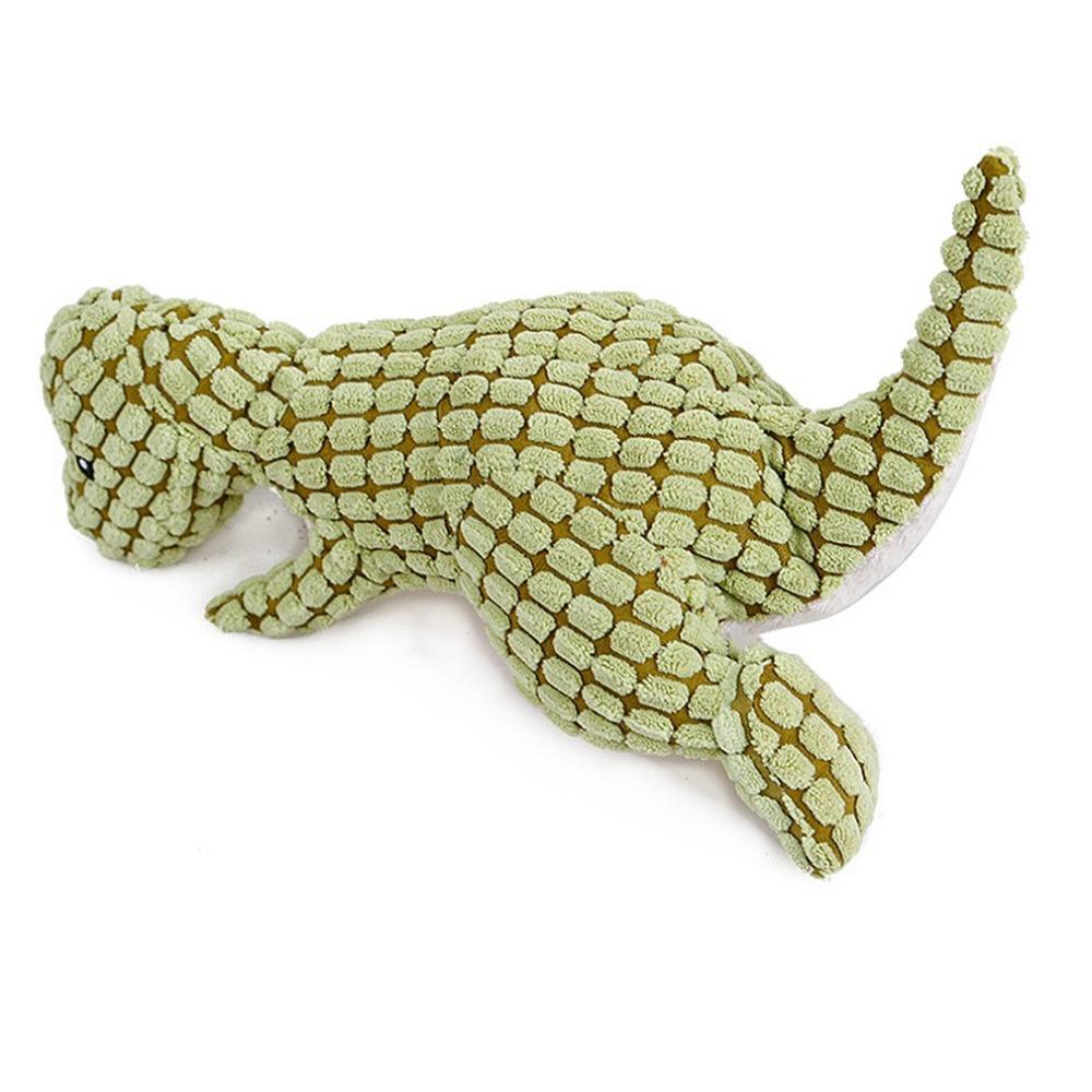 sonido dinosaurio mascotas creativas de cachorro juguete granos de maíz juguete de peluche lleno chillona Forma Chew regalo perro gato animal de juguete