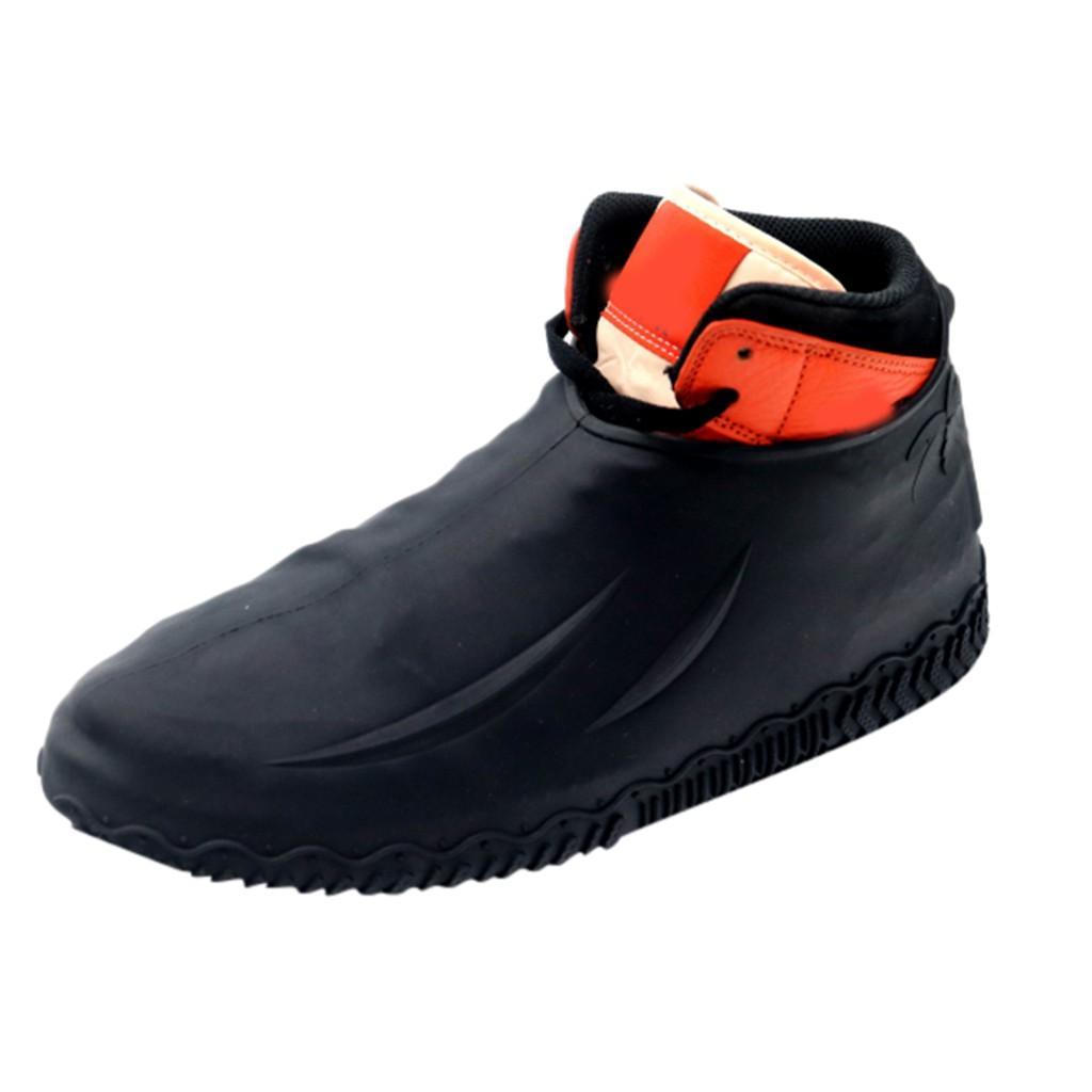 zapatos PU de la cubierta cubierta completa del bolso de la cubierta portátil Zapatos Cubiertas reutilizables pares de zapatos a prueba de agua de silicona protector de lluvia Chanclo