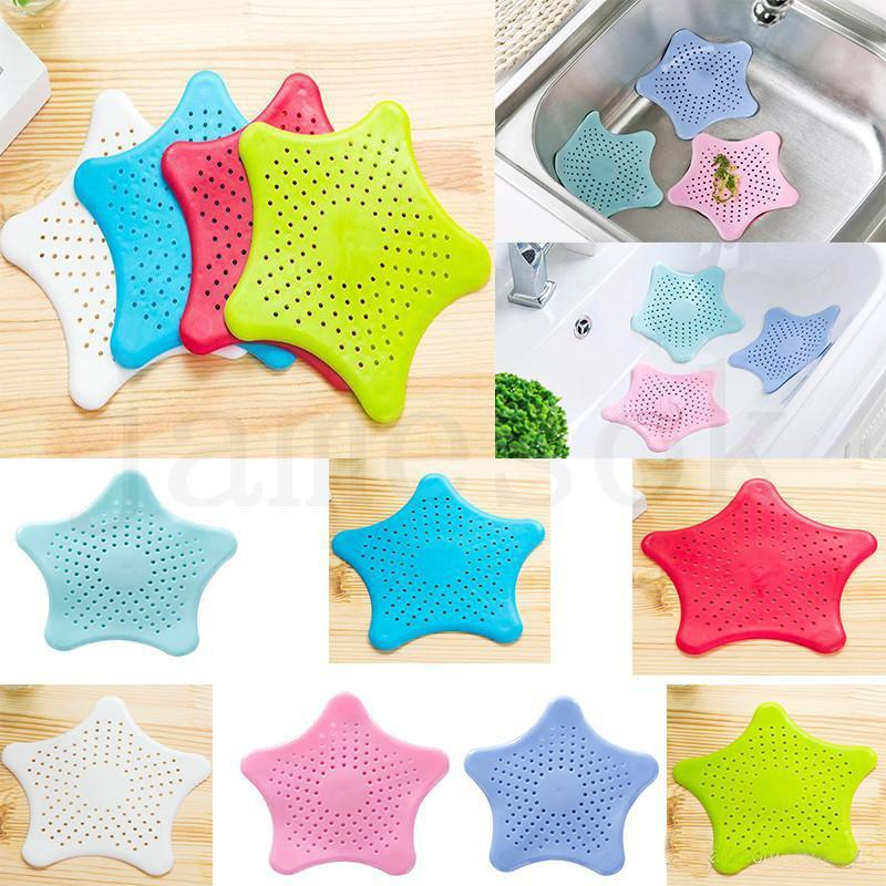 Kitchen Bathroom Sea Star Sucker Filter Sink Drain Stopper Anti-clogged Floor Sewer Outfall Hair Filter Colanders Strainer Supplies DC999