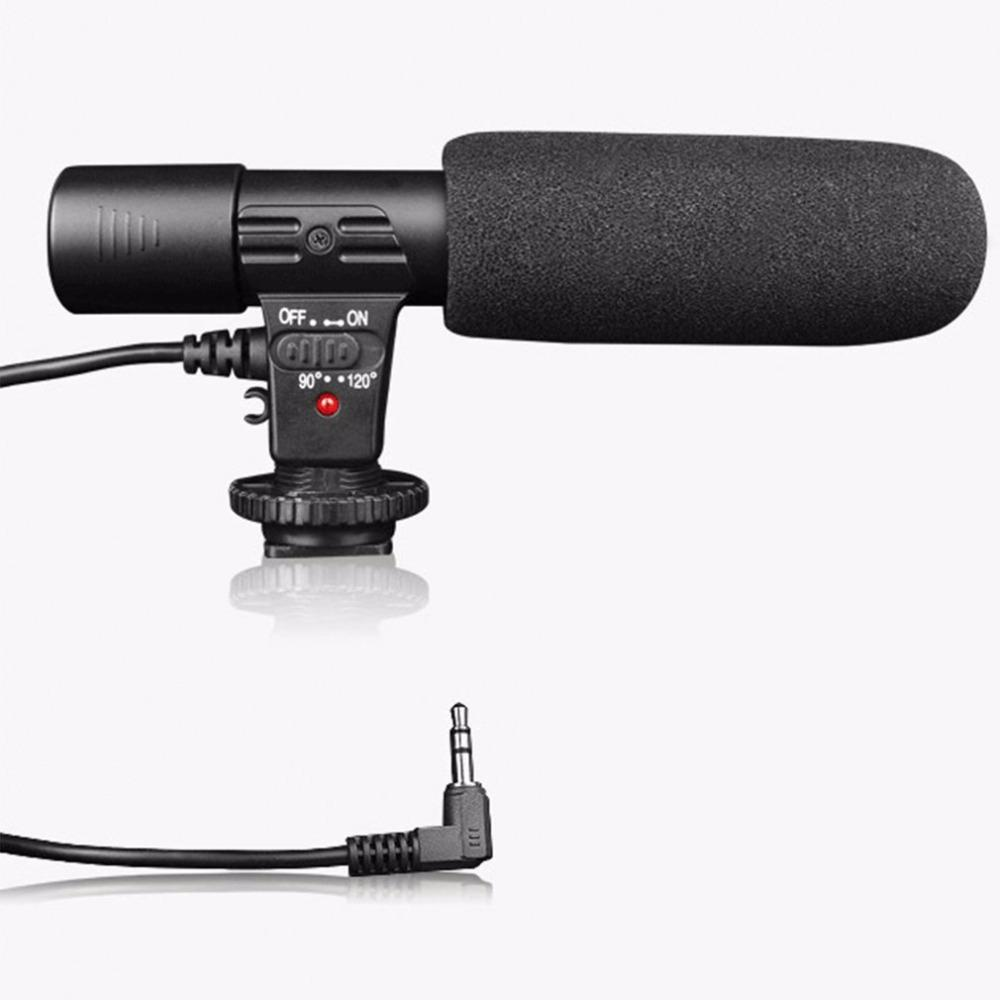 Professional Condenser Microphone 3.5mm Recording Microphone Interview Mic for DSLR Camera Video DV Camcorder Microfon