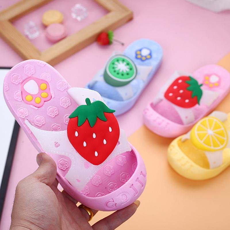 Children Infant Kids Slipper Shoes Baby Girls Boys Cute Fruit Beach Slipper Sandals Shoes Home Flip Flops Girl Bedroom