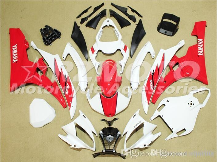 3 Free gifts New Injection ABS Fairing Kits 100% Fitment For YAMAHA YZF-R6 06-07 YZF600 2006 2007 R6 bodywork set red white color D1