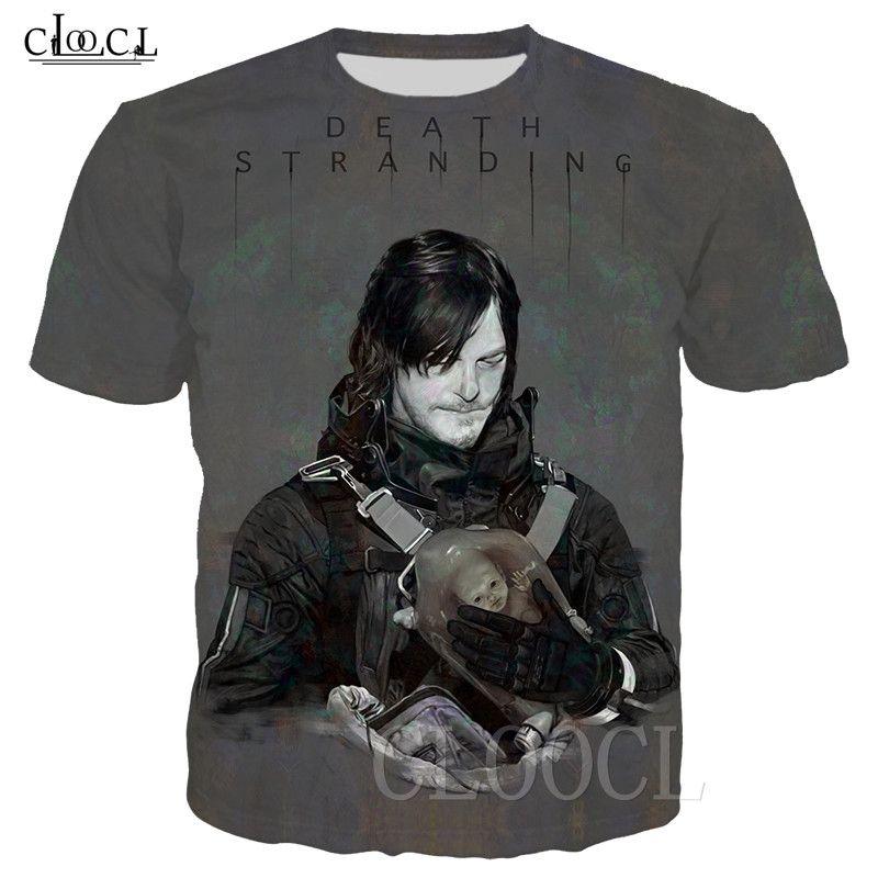 2020 Mode mort Jeu T-shirt unisexe Homme échouages overs 3D Imprimer manches courtes T-shirt Hip Hop Streetwear Tops S-5XL