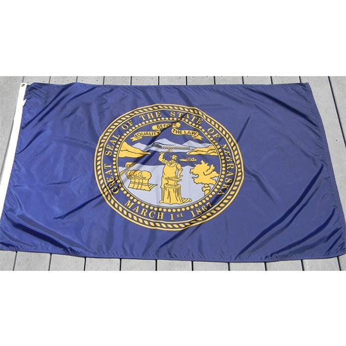 Nebraska Флаг 3x5, Национальный 90% Bleed 68D Шелкография, висячие Все страны, от профессиональных производителей флагов и баннеров
