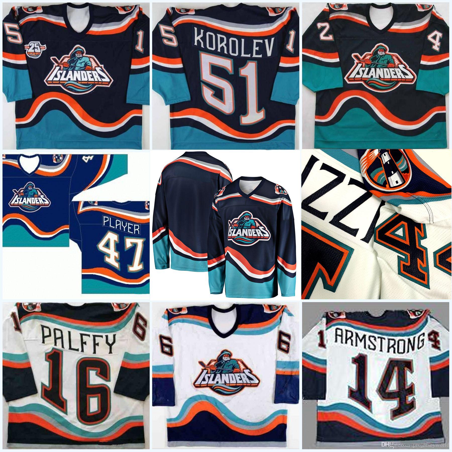 Özel New York Islanders balıkçı Herhangi İsim Numara 16 Ziggy Palffy 11 Darius Kasparaitis 14 Armstrong 44 Bertuzzi 34 Berard Hokeyi Jersey