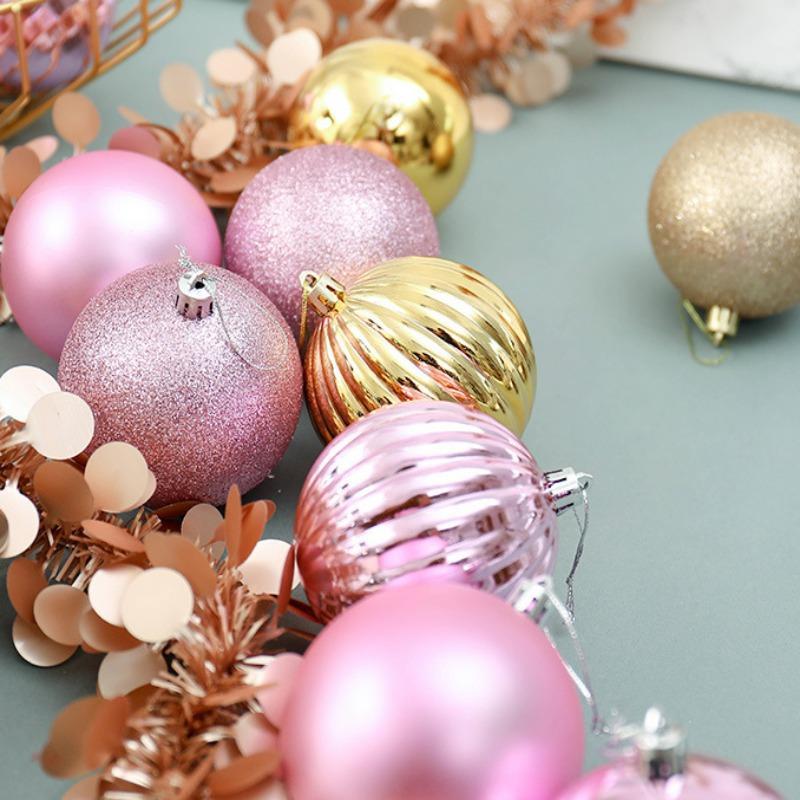 34 piezas de 4 cm Diferentes colgantes Diseñado bolas Surtido Conjunto del partido de ornamento de navidad decoraciones de Navidad