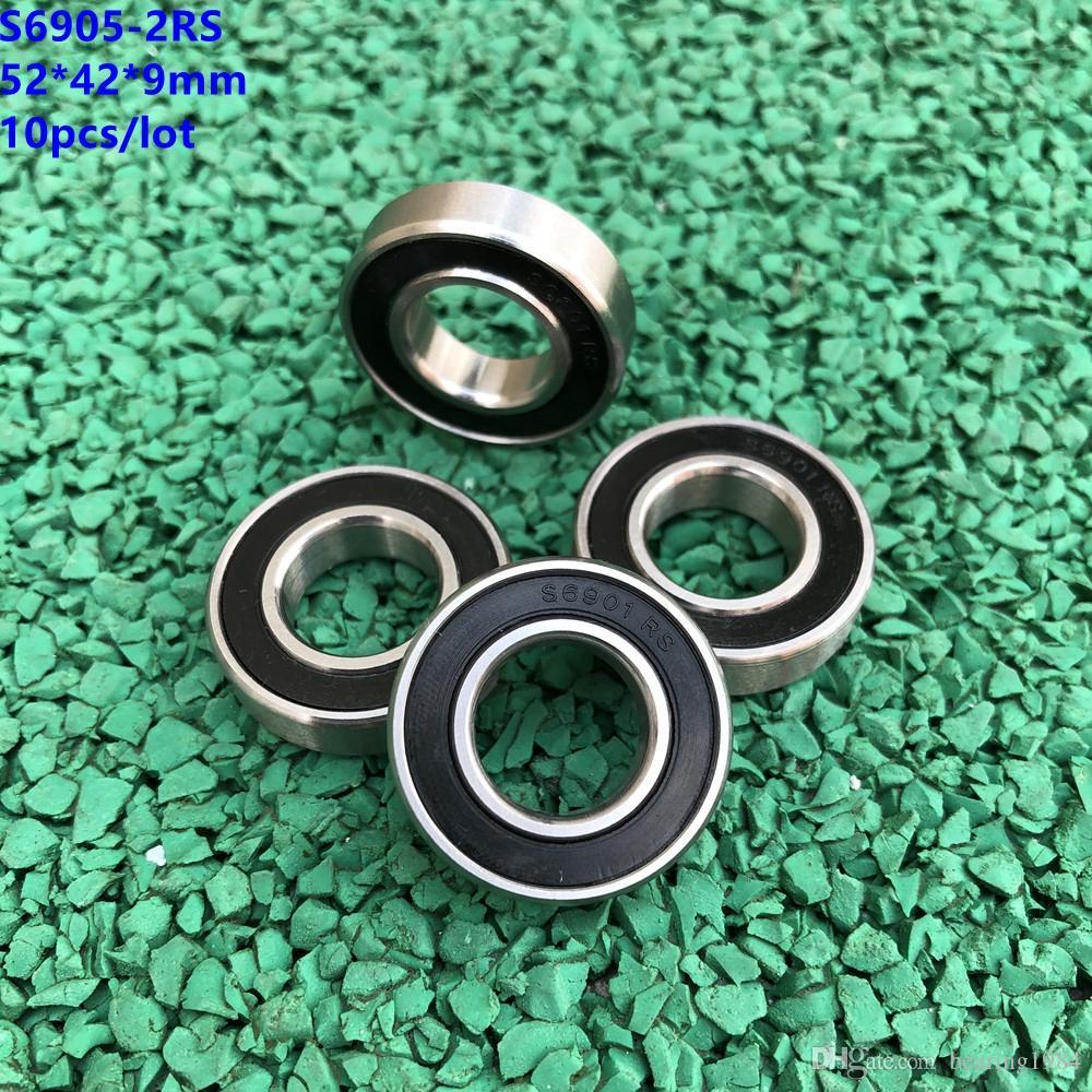 10 pz / lotto S6905RS S6905-2RS cuscinetto a sfera in acciaio inossidabile 25 * 42 * 9mm cuscinetto a sfere in acciaio inossidabile 25x42x9mm