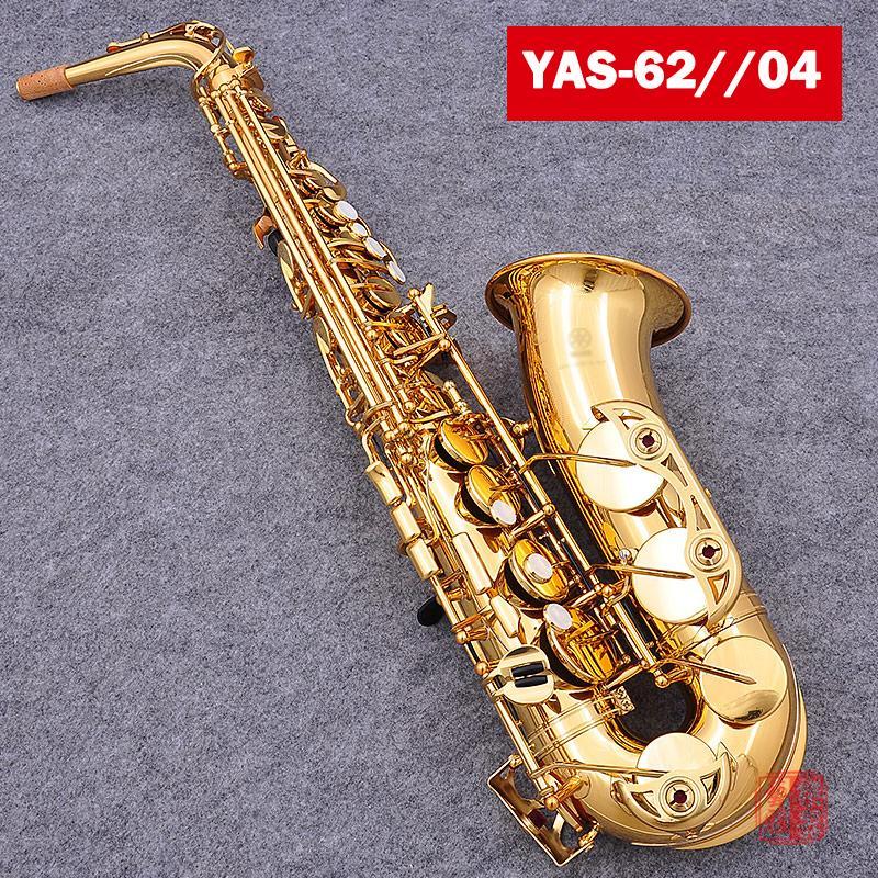 العلامة التجارية YAS-62 Alto Saxophone مطلية بالذهب Key Professional Sax مع القضية المعبرة والاكسسوارات