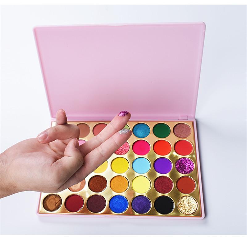 35 colori ombretto terra perla opaco naturale scintillio di lunga durata ombretto scintillio palette ombretti trucco