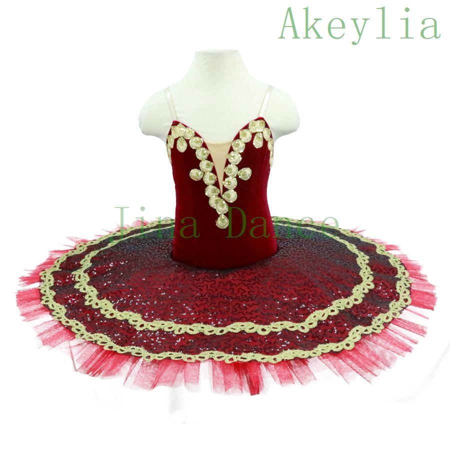 enfant Jupe Ballet femme noir rouge Platter professionnel Tutu rouge or Ballet costume de danse pour les femmes Tutu Ballet adultes