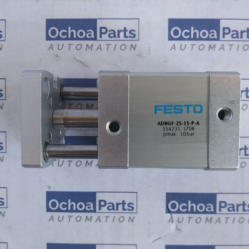 FESTO 554231 Cilindro compacto ADNGF-25-15-P-A Stroke 15 milímetros OD PISTÃO 25 milímetros