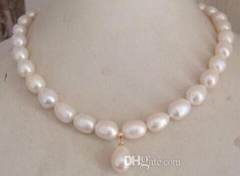 Hermosa 11-12mm Mar do Sul Blanco Perla Barroca necklace18inch925silver