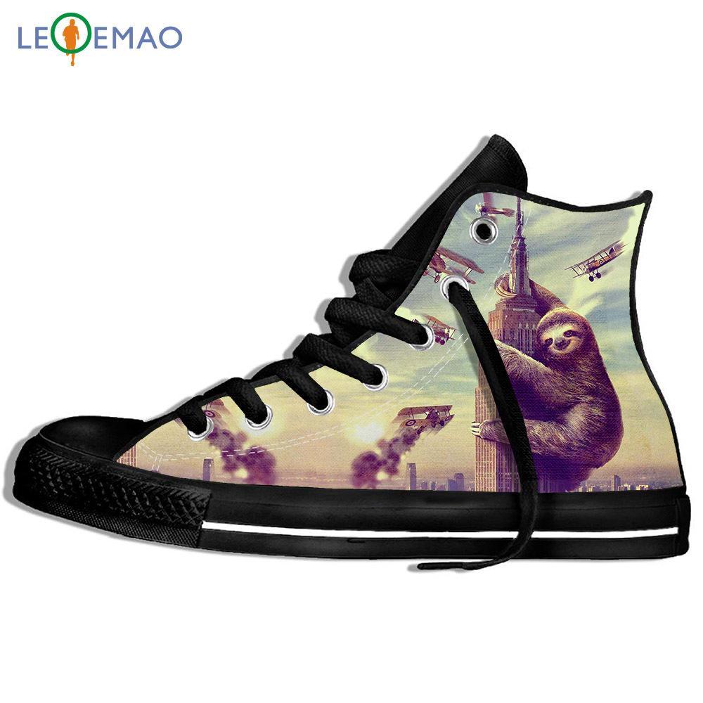 Tuval Çizme Klasik Sneakers Nefes Unisex Yüksek üst loafer'lar tembellik On The Building Spor Ayakkabı yürüyüş ayakkabıları